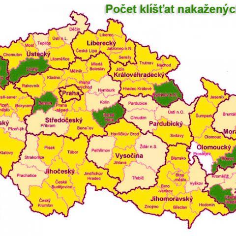Zamoření klíšťaty v České republice